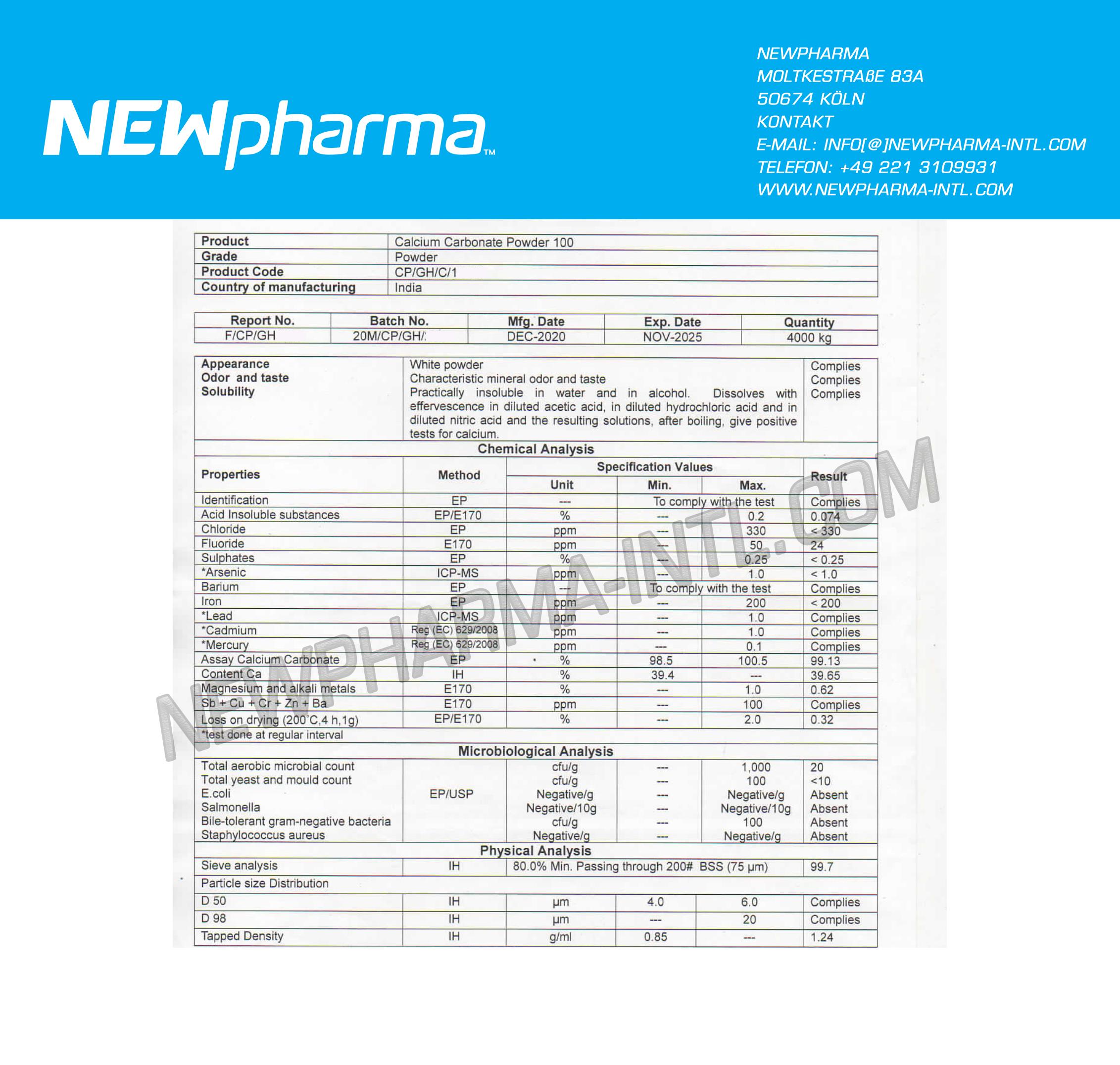 NEWPHARMA-Calcium