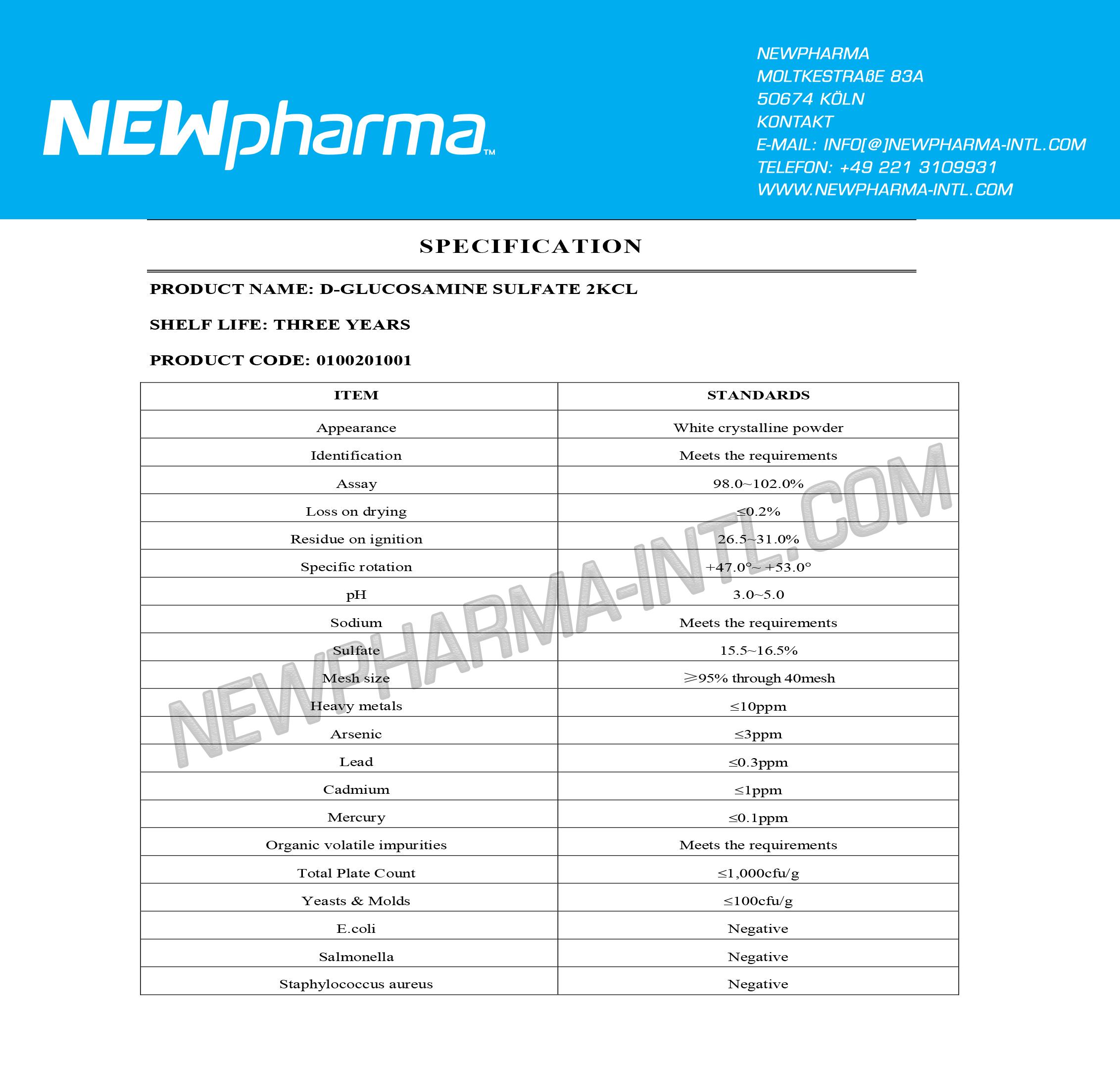NEWPHARMA-GLUCOSAMINE-Su