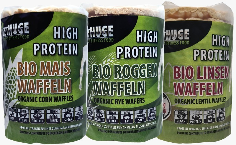 Get Huge - Proteinwaffeln Mais, Roggen und Linsen