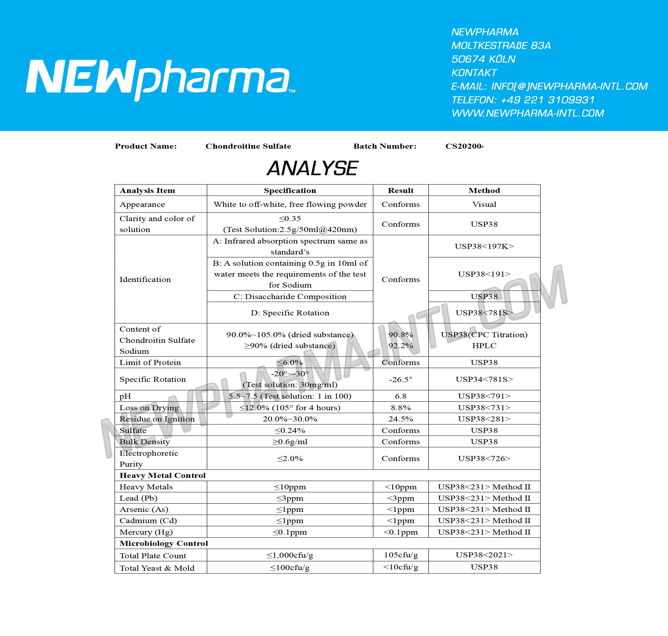 NEWPHARMA-Chondroitine-Sulfat